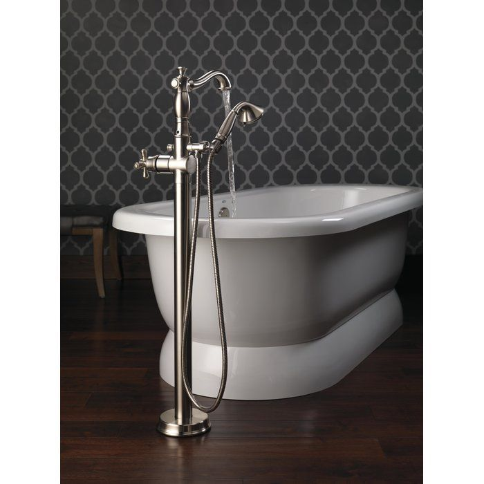 Cassidy Floor Mount Freestanding Tub Filler Trim With Handshower