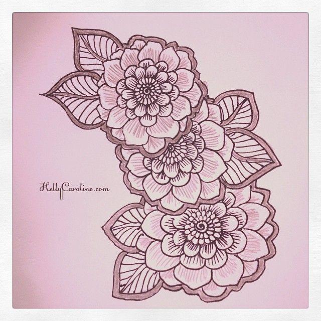 Mehndi Flower Chadar : Henna style flowers hennaartist hennatattoo