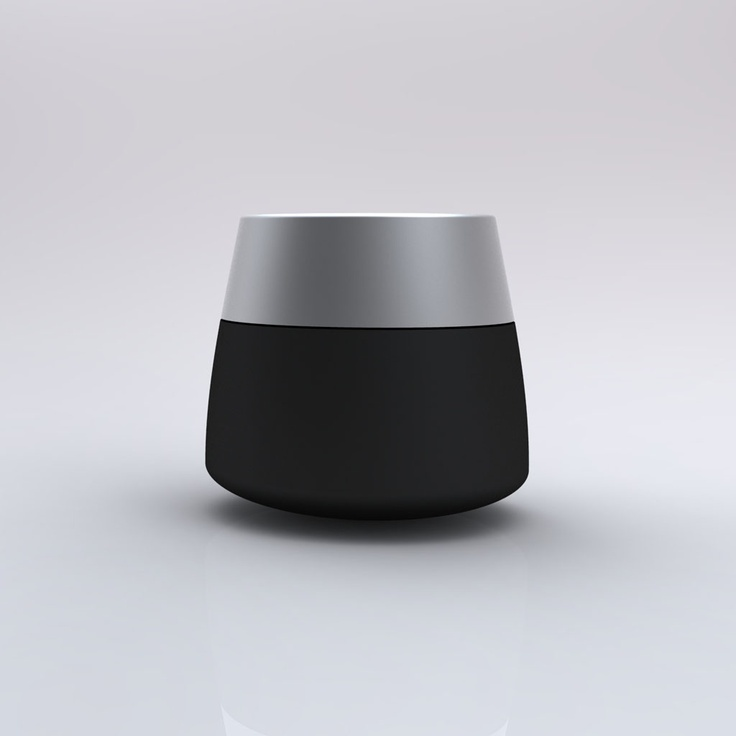 Capsule Urn P-2 Small Urn/Keepsake. Available in multiple colors and finishes (shown with Anodized Aluminum Clear and Black Combination). Made-In-The-USA.