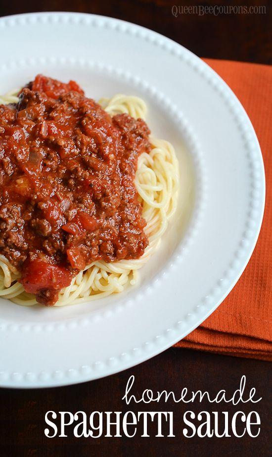 Homemade spaghetti sauce - QueenBeeCoupons.com