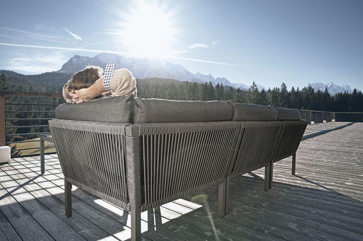 gartenbank solpuri club recamiere anthrazit rattan geflecht mit kissen garten pinterest. Black Bedroom Furniture Sets. Home Design Ideas
