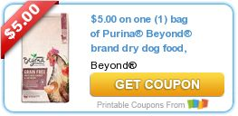 Tri Cities On A Dime: SAVE $5.00 ON PURINA BEYOND BRAND DRY DOG FOOD