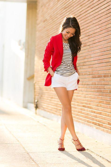 Red Leopard :: Crimson blazer & Lucite necklace : Wendy's Lookbook