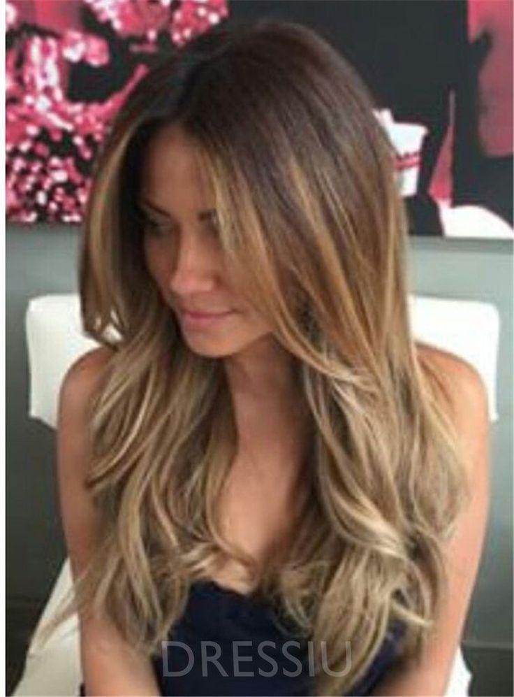 Wavy Lace Front Cap Human Hair 22 Inches Long Women Wigs