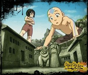I've always loved this part because it tells us Toph sees with her feet the same thing everyone sees with their eyes.