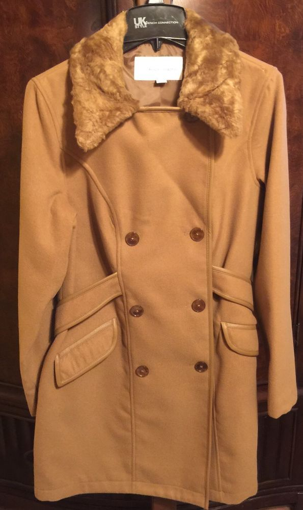 New UK Style by French Connection Women's Wool Blend Trench Coat NWT Womens sz L #UKStyleFrenchConnection #Trench #Wool #Coat Elegant Coat