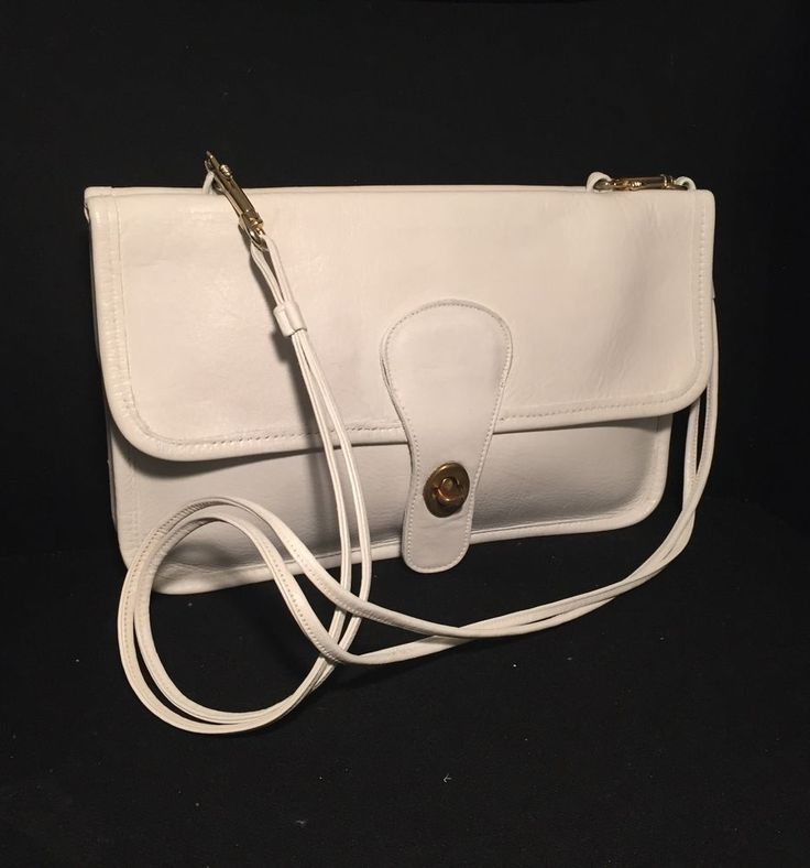 Vintage COACH Bonnie Cashin Pre-Creed Double-Sided Twin Clutch, 9380, White #Coach #Clutch