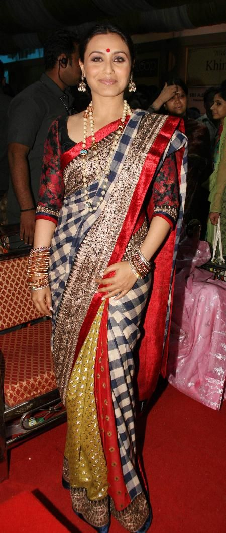 Rani in a Saree by Sabyasachi