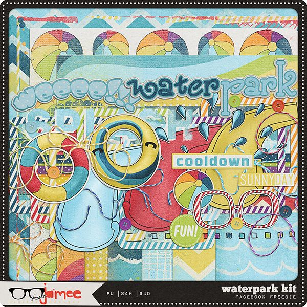 Quality DigiScrap Freebies: Waterpark mini kit freebie from Just Jaimee