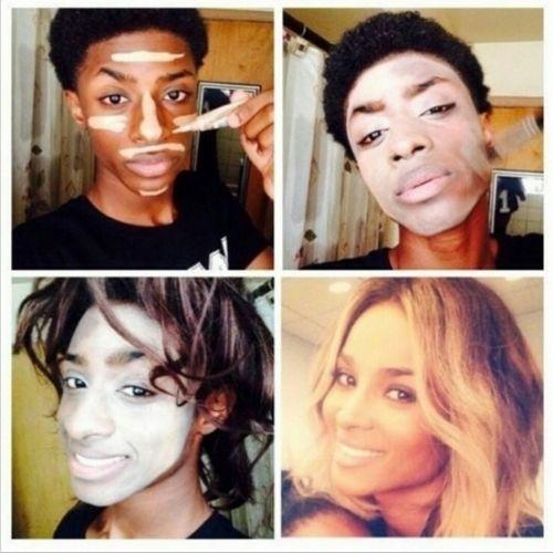 Celebrity makeup transformations on Instagram, #MakeupTransformation