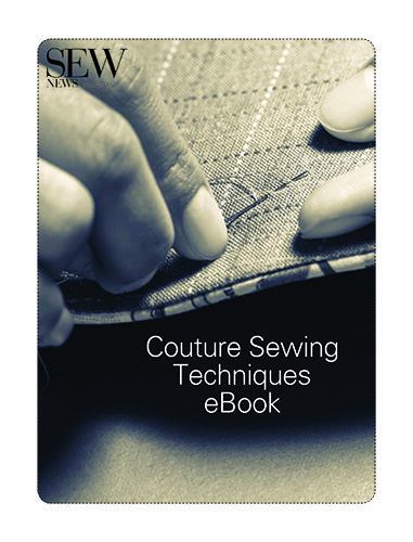 In this ebook, learn couture sewing techniques like special hand stitches, high-end hem treatments, custom buttonholes and pro tips for lining a garment well.