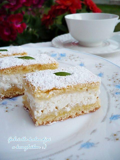 Gabriella kalandjai a konyhában :): Citromos-túrós szelet