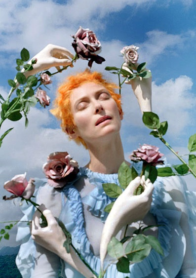 mikapoka: Tim & Tildas dreamscapes - world famous photographer Tim Walker teamed up withandrogynous style icon, Anglo-Scott actress Tilda Swinton in a staggering editorial for the May issue of W magazine