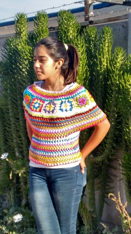 Capita colores a crochet