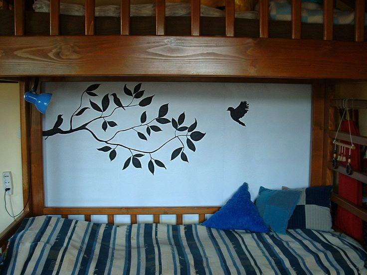 Ezzel a tussal papírra festett faliképpel dobtam fel a szobámat.