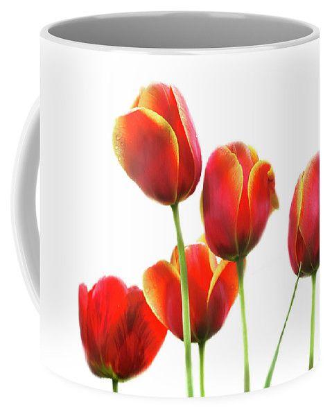 Cheerful Bloom Of Spring Flowers - Tulips By Irina Safonova Coffee Mug featuring the photograph Cheerful Bloom Of Spring Flowers - Tulips by Irina Safonova#IrinaSafonovaFineArtPhotography #food #Rustic #ArtForHome#CoffeeMug