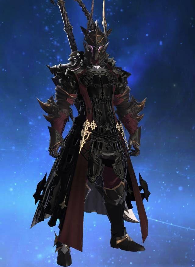 My Dark Knight Glamour Ffxiv Ffxiv Post Knight Armor Fantasy