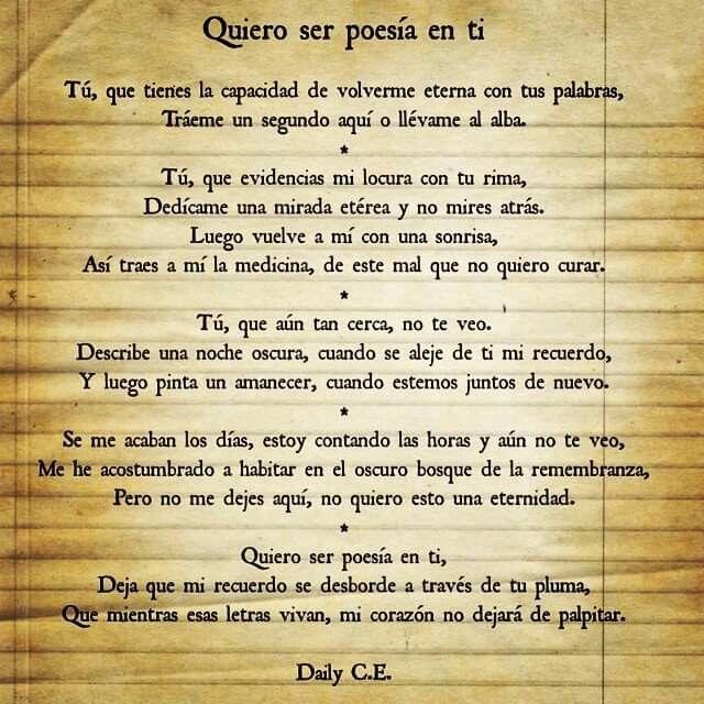 Poesía inedita. Amor. Escritura.