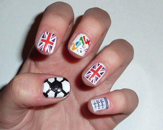 FIFA World Cup 2014 Nail Designs http://easynaildesigns.org/nail-designs/