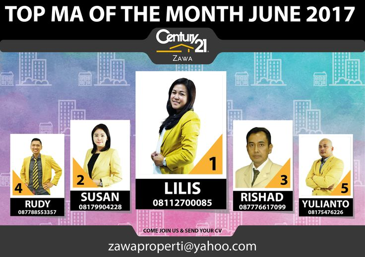 "TOP MA OF THE MONTH CENTURY 21 ZAWA ""JUNE 2017"""