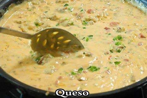 Description  This queso recipe is extremely creamy, cheesy, hearty and WONDERFUL. I get requests for it from friends and family every time there is a get-together. There is a 'secret' ingredient in it that I think