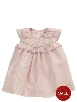 Perfect for special occasions and christenings, this adorable baby girls frilly dress by Mamas and Papas is lovely and reduced from £34 to just £17.