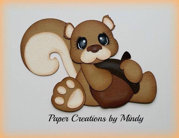 Squirrel and Acorn (Scrapbook Paper Piecings)