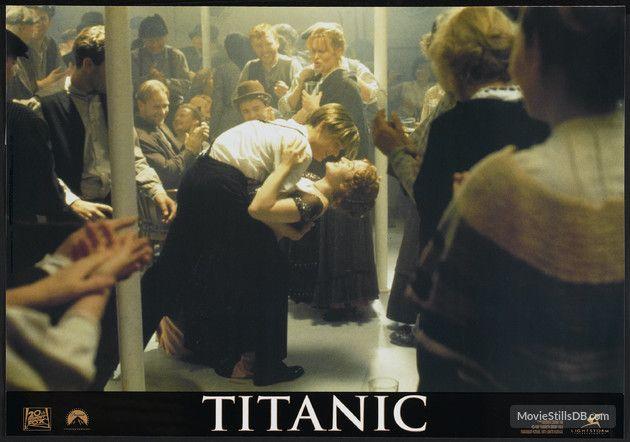 Titanic - Lobby card with Leonardo DiCaprio & Kate Winslet