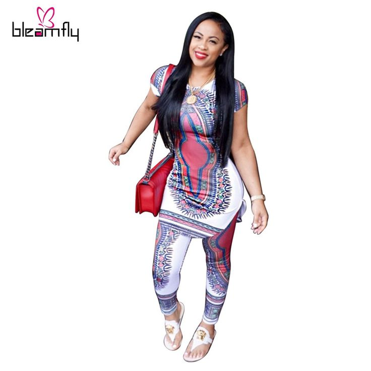 Plus Size African Clothing For Women Bazin Riche 2016 African Print Dresses  2 piece set ladies Traditional Print Dashiki Sets