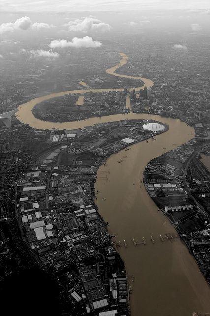 U.K. River Thames from above