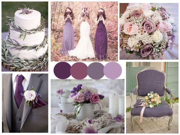 Lavender, Purple and Grey Wedding Inspiration