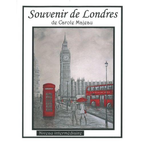 Création de Carole Majeau - Patron de projet à faire à l'acrylique et au mortier, Londres, autobus rouge, cabine téléphonique, souvenir de voyage, peinture, big ben, ville