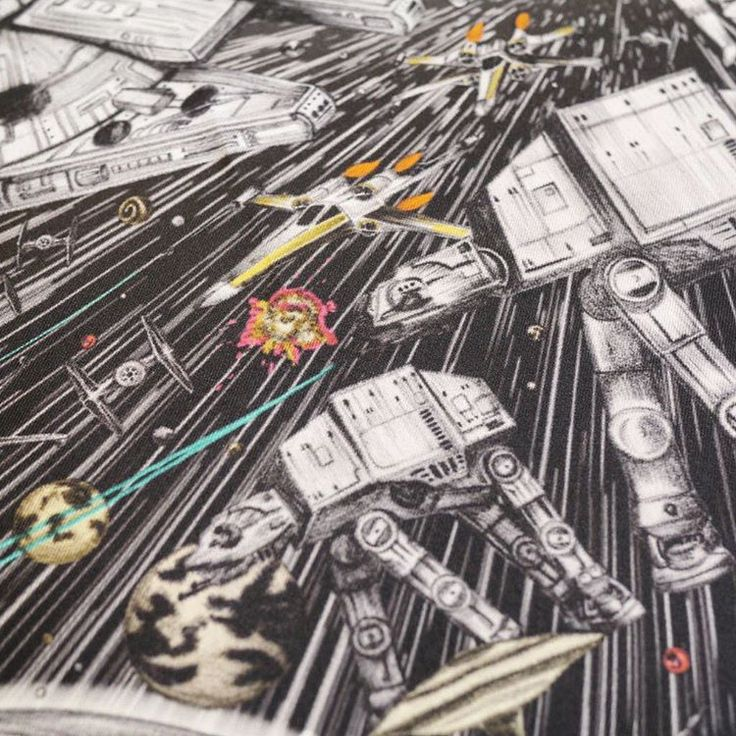 Emma J Shipley x Star Wars scarf artwork ⭐️ Star Wars fashion ⭐️ Geek Fashion ⭐️ Star Wars Style ⭐️ Geek Chic ⭐️