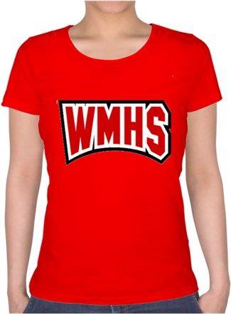 Glee-William McKinley Highschool T-Shirt Kendin Tasarla - Bayan U Yaka Tişört