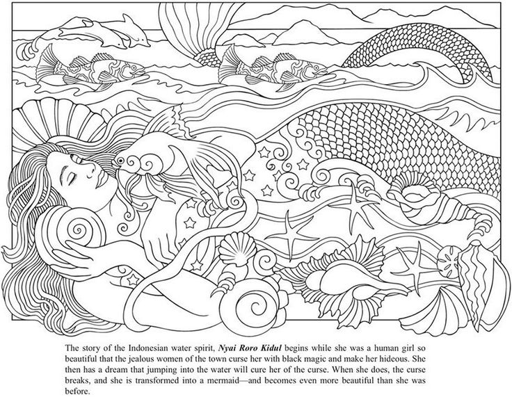 Hard Mermaid Coloring Pages Coloring Coloring Pages