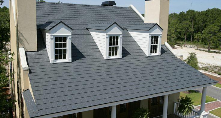 Best Metalworks® Stonecrest® Slate In Sierra Slate Grey Steelshingles Roof Homeimprovement Steel 400 x 300