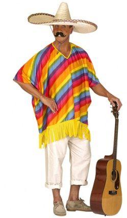 Poncho Mexicain Multicolore