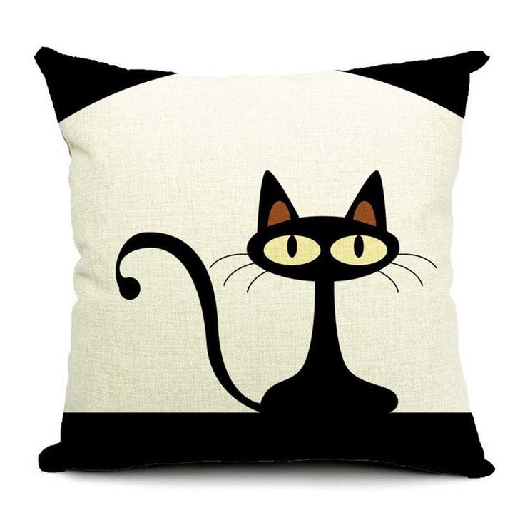 Cat Style Fashion New Cushion Cat Print pillow Bed Sofa Home Decorative Pillow Fundas Para Almofadas Cojines