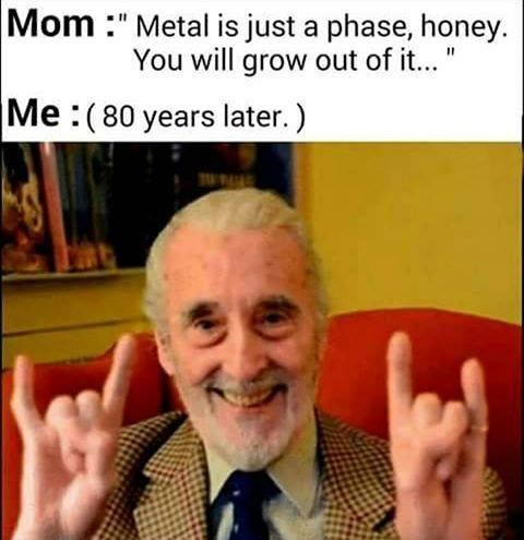 Well my friends say this. My parents taught me to love metal