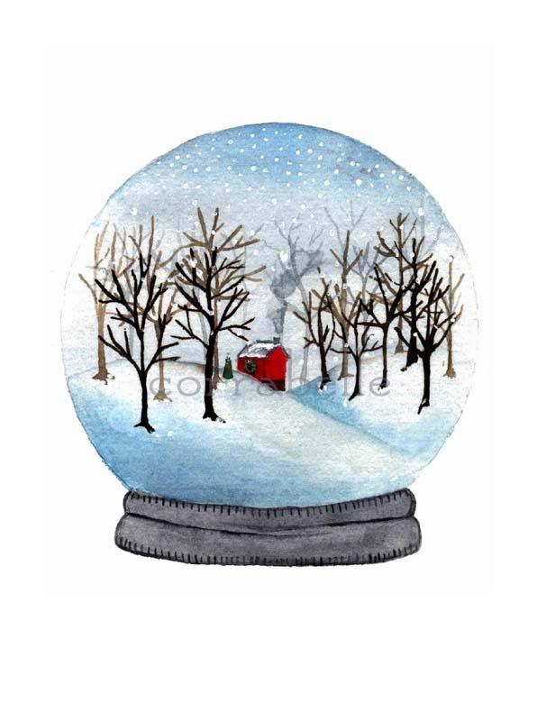 Watercolor Winter Wonderland Artist Painted