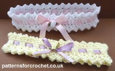 Free baby crochet pattern for headband http://www.patternsforcrochet.co.uk/0-3-headband-usa.html #patternsforcrochet #freebabycrochetpatterns
