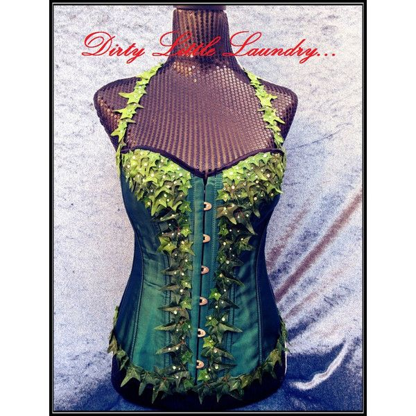 Poison Ivy Corset, SExy Halloween Costume, Comic Con, Anime, Geekery,... (200 AUD) ❤ liked on Polyvore featuring costumes, burlesque costumes, animal costumes, cartoon halloween costumes, sexy cartoon costumes and cartoon character costumes