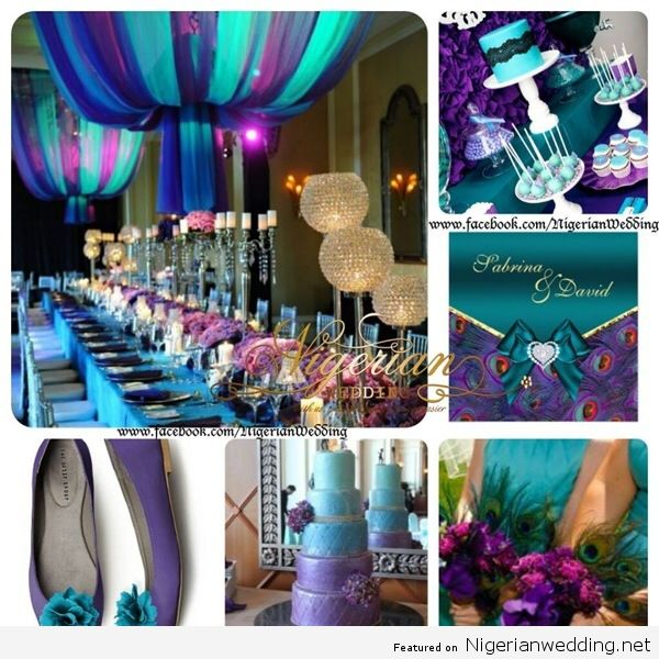 Nigerian Wedding Colour Schemes Purple Teal Pea Colors