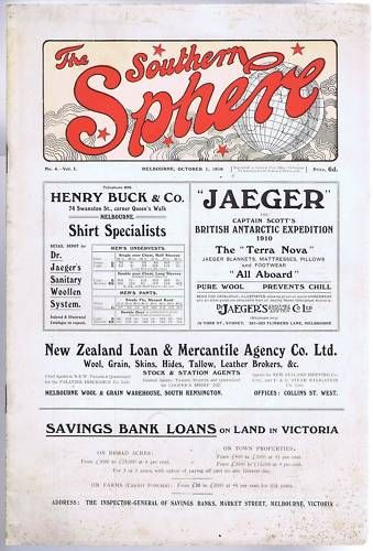 Southern Sphere Melbourne Magazine OCT 1910 Original | eBay