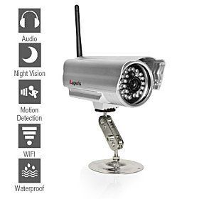 Apexis - Weatherproof Wireless IP Camera with Night Vision and Motion Detection . $72.99. Additional Features- Features:Waterproof, Day Night, Motion Detection, Remote Access - IR Night Vision Distance (m):15 - Waterproof:Yes - Motion Detection:Yes - Online User:9