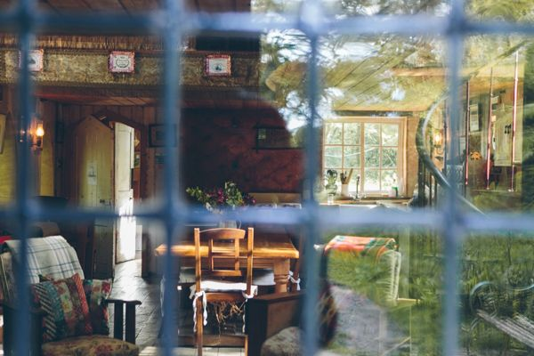 Through the front door!  Photograph by India Hobson