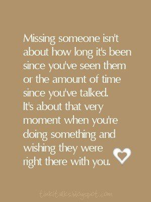Missing some special people a lot lately.