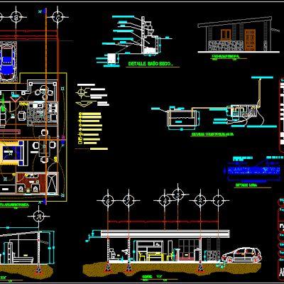 Economical house project 90 meter square (5.85m x 15m)