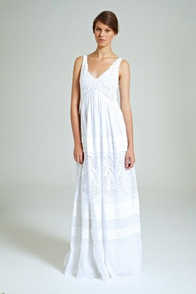 Collette Dinnigan Lace & Ramie Gown