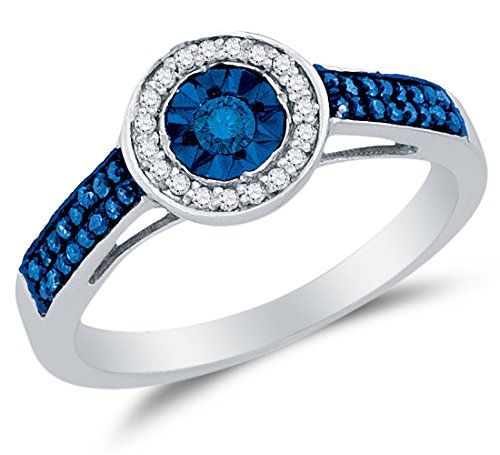 Size 5 – 925 Sterling Silver Blue & White Round Diamond Halo Circle Engagement Ring – Prong Set Solitaire Center Setting Shape with Channel Set Side Stones (1/4 cttw.)by Sonia Jewels - See more at: http://blackdiamondgemstone.com/colored-diamonds/jewelry/wedding-anniversary/engagement-rings/size-5-925-sterling-silver-blue-white-round-diamond-halo-circle-engagement-ring-prong-set-solitaire-center-setting-shape-with-channel-set-side-stones-14-cttw-com/#sthash.9oCQZheg.dpuf